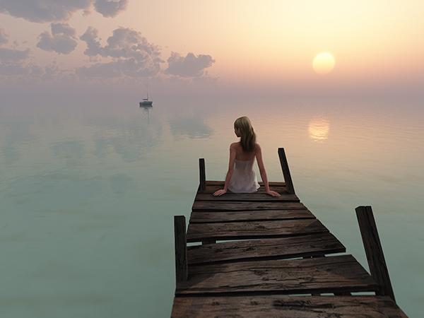 girl on a pier